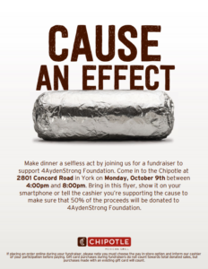 CHIPOTLE Monday Oct. 9th Click to see details